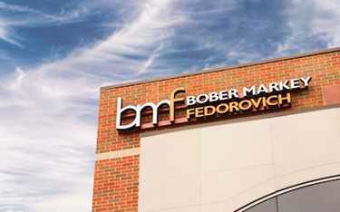 BMF Signage On Outside Of Office Building